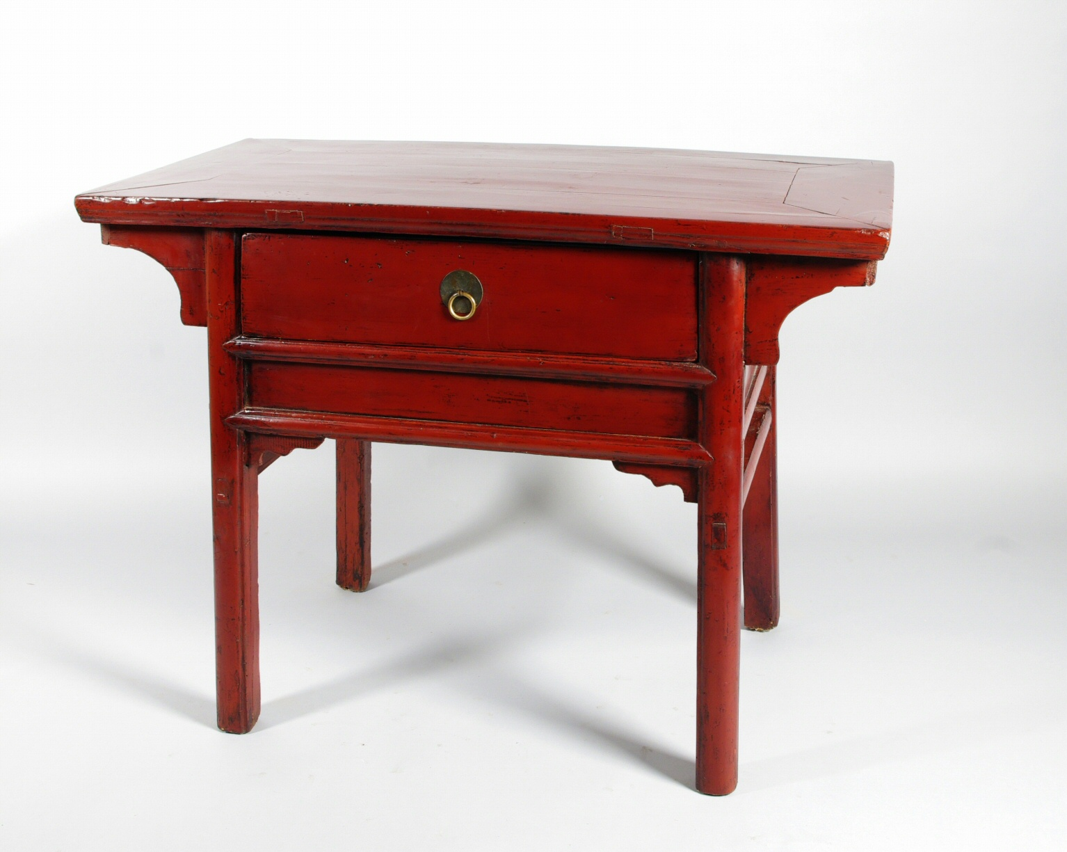 Small Chinese Red Lacquer Altar Table