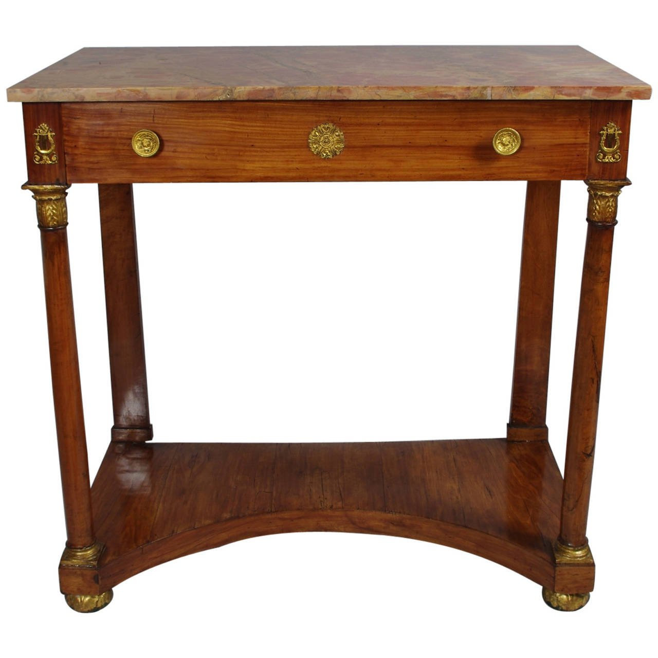 View 1: Italian Empire Cherrywood Console Table