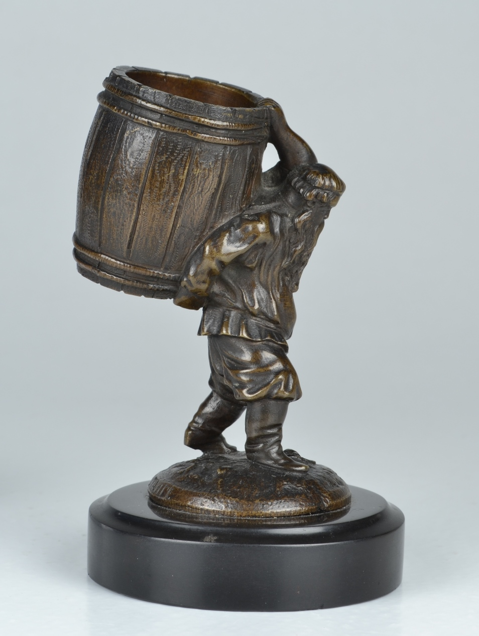 "View 5: Evgeny Lanceray (1848-1886) Russian, ""Peasant Carrying a Barrel"""