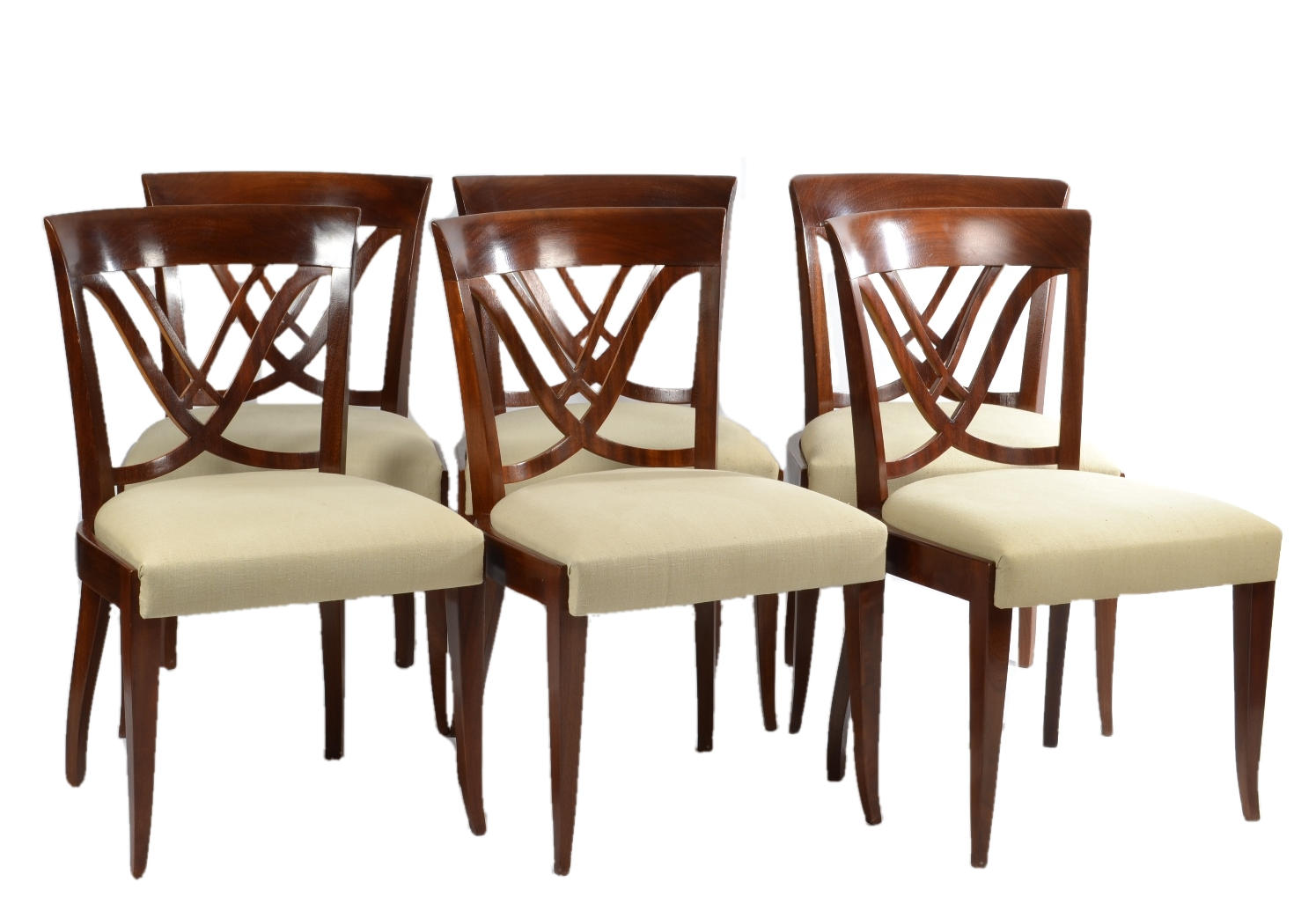 Fresh Robert Morrissey Antiques: Set of Six Art Deco Dining Chairs OR12