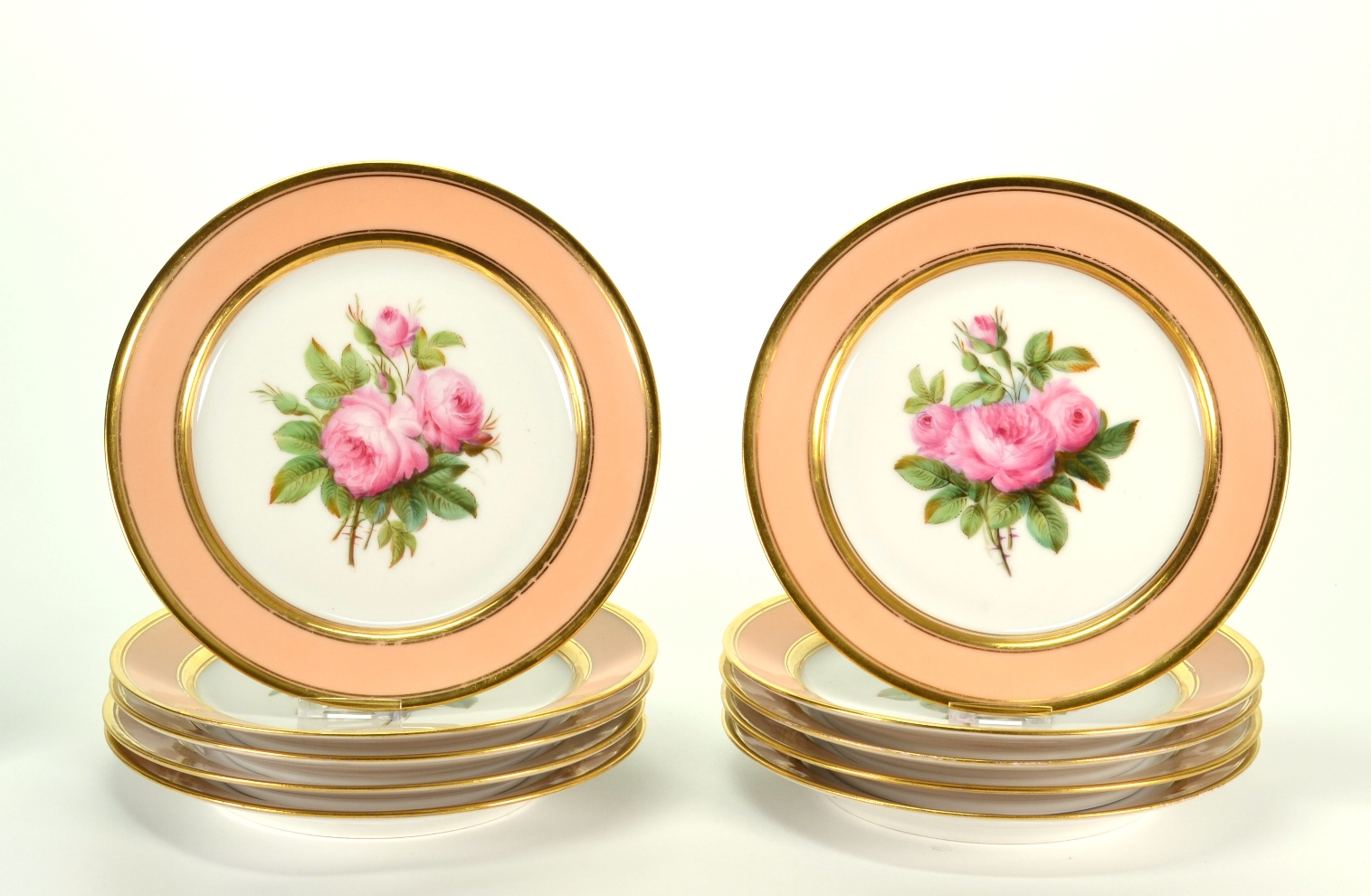 View 8: Set of Ten Old Paris Porcelain Plates