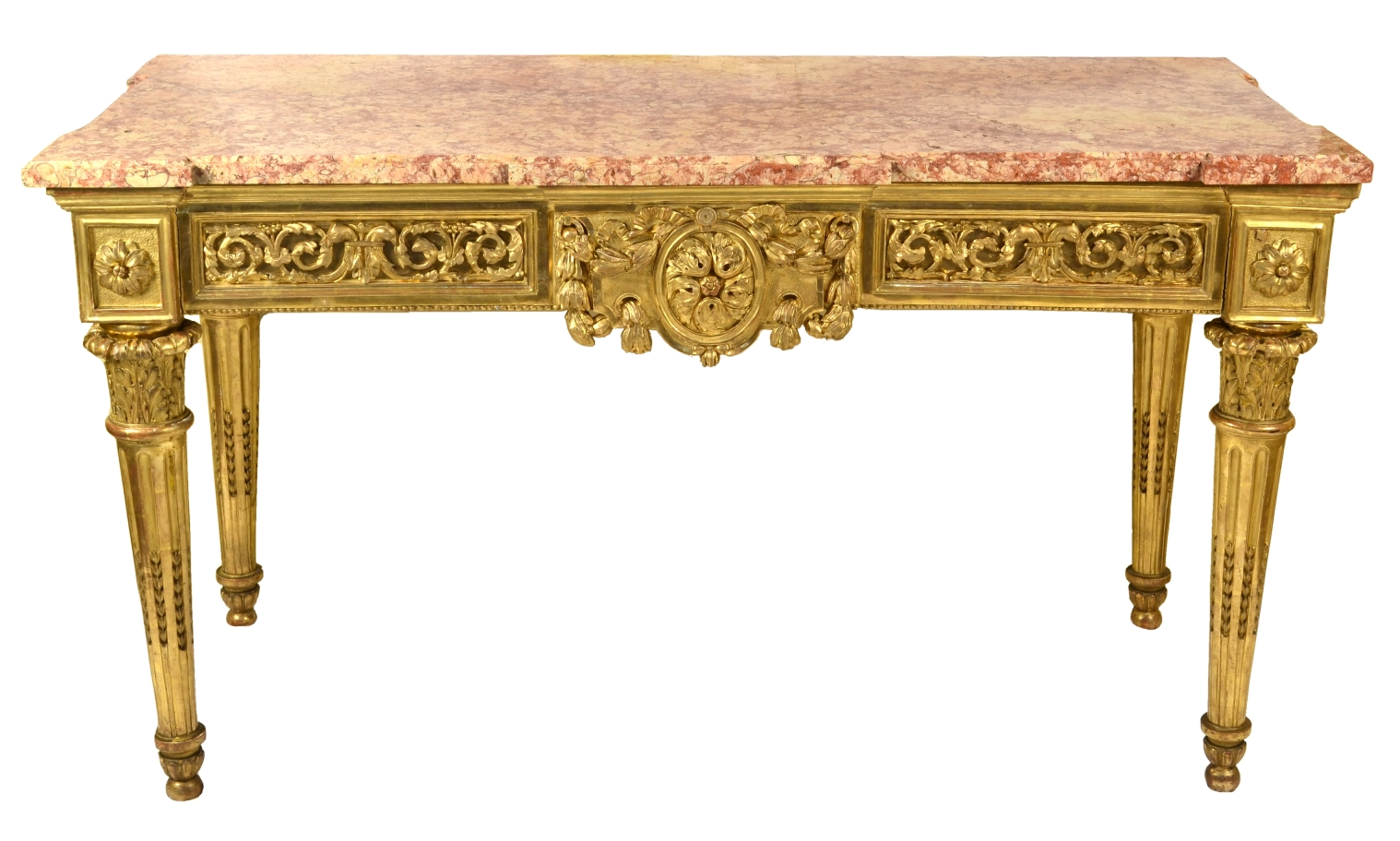 Fine Italian Carved and Giltwood Neoclassical Console Table, c.1790