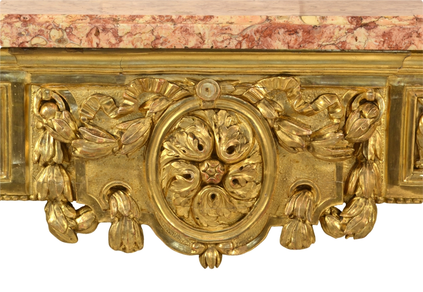 View 6: Fine Italian Carved and Giltwood Neoclassical Console Table, c.1790