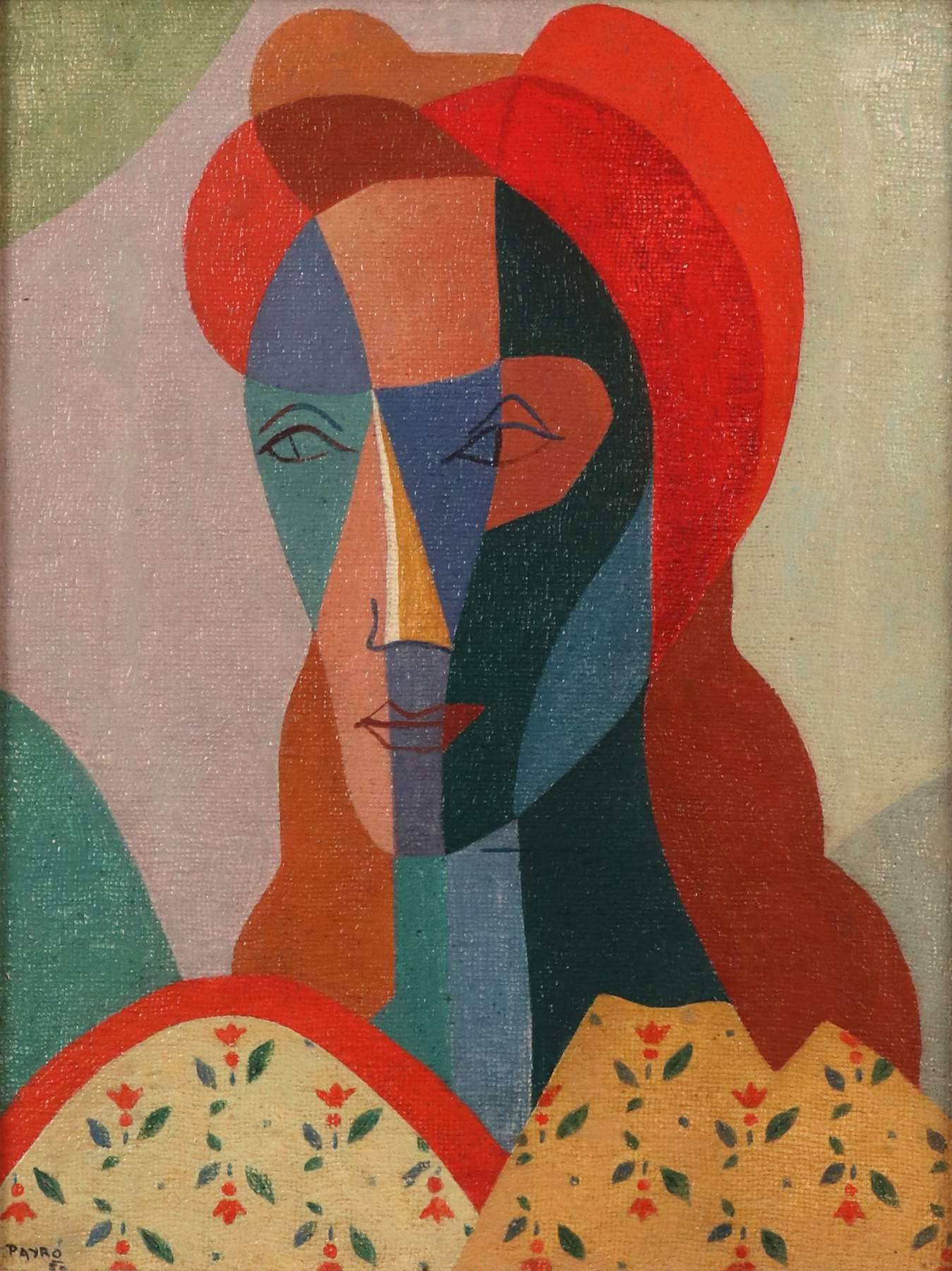 "Julio Payro (1899-1971) ""Portrait of a Woman"", 1950"