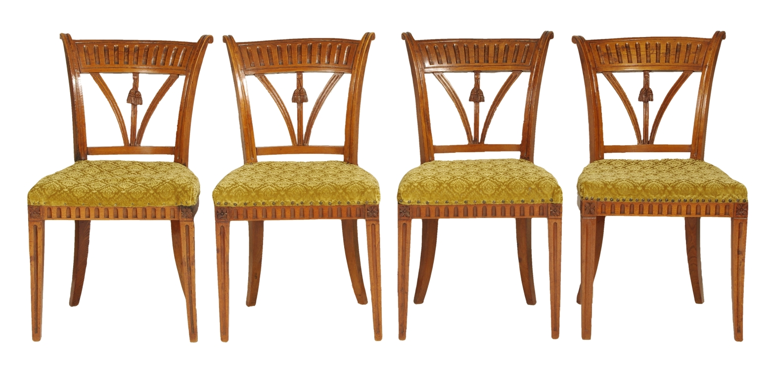 Set of Four Italian Side Chairs