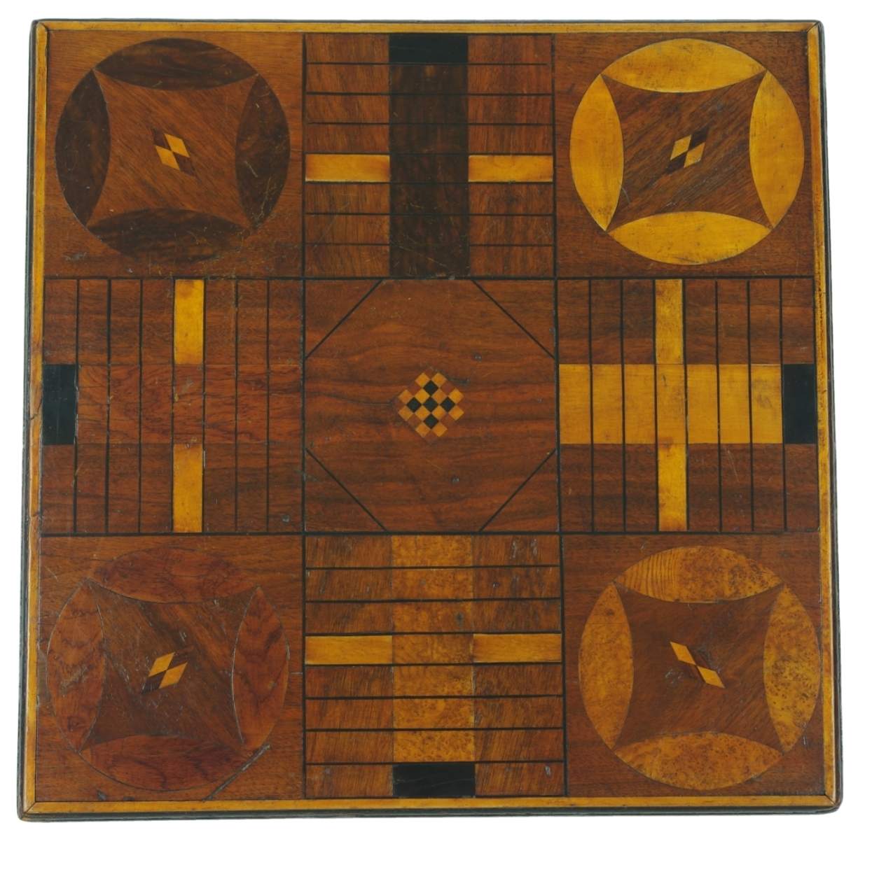 Inlaid Parcheesi Board Mounted as a Table, 19th c.