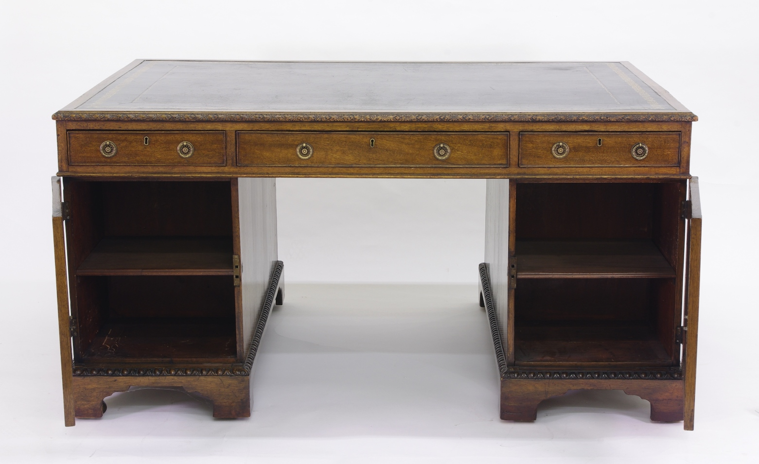 View 6: Victorian Mahogany Partners Desk, c. 1840-60
