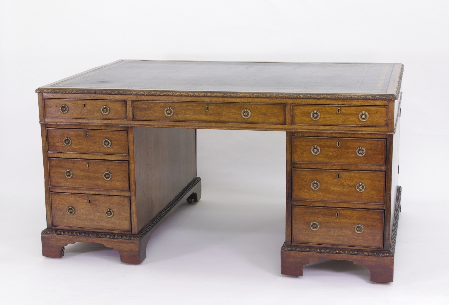 View 9: Victorian Mahogany Partners Desk, c. 1840-60