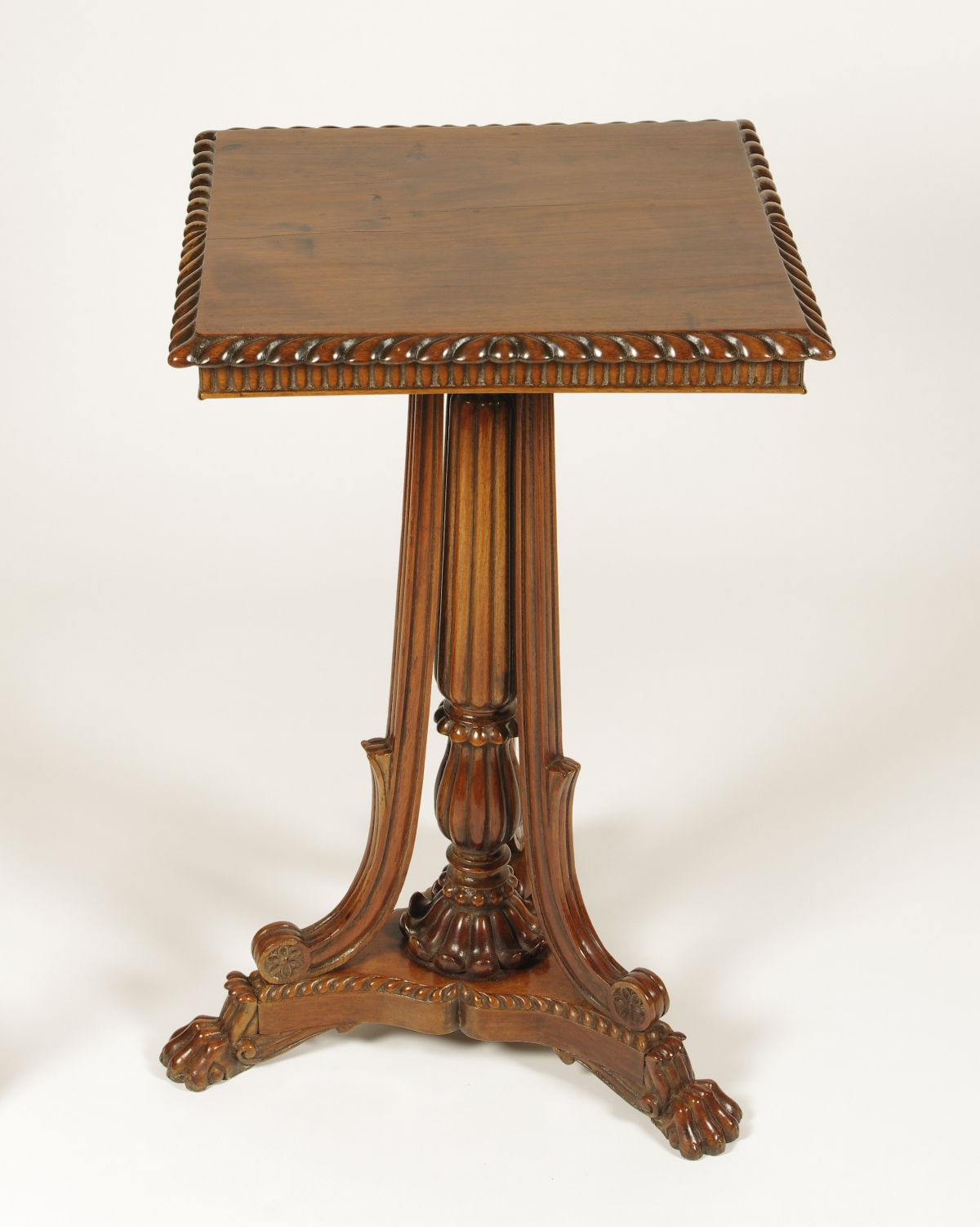 View 6: British Colonial Padouk Wood Side Table