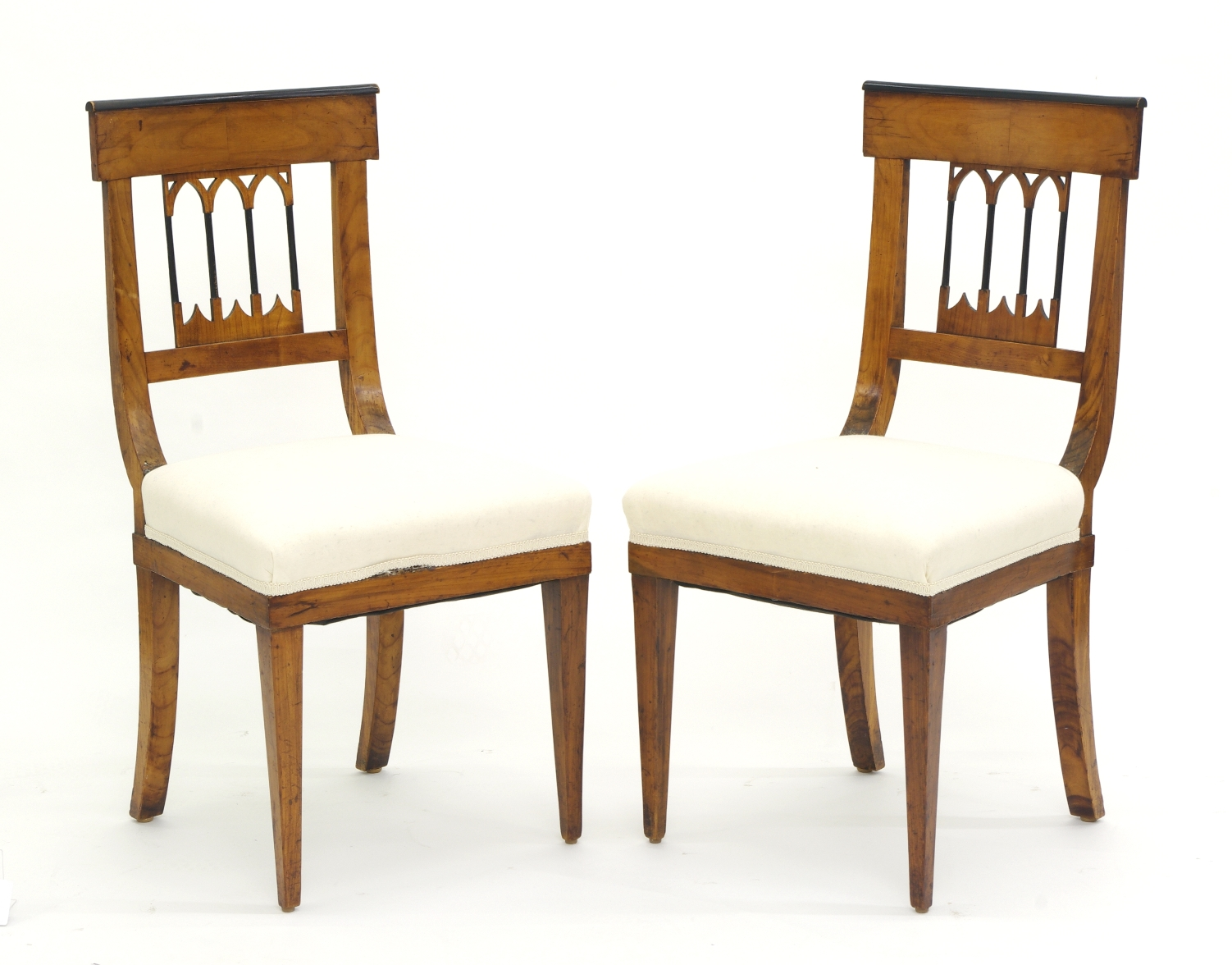 View 2: Set of Four Biedermeier Side Chairs, c. 1810-20