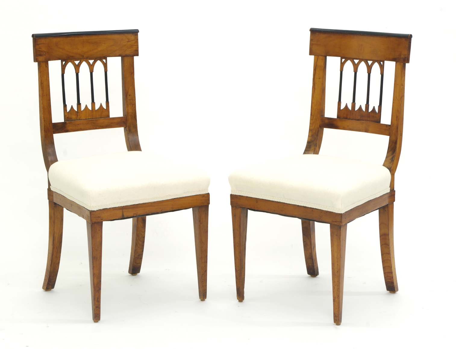 View 3: Set of Four Biedermeier Side Chairs, c. 1810-20