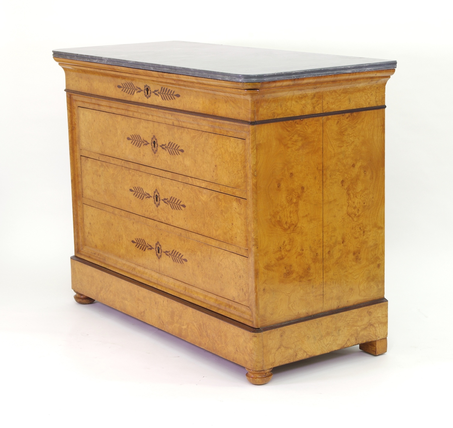 View 3: French Restauration Burr Ash Chest of Drawers, c. 1825