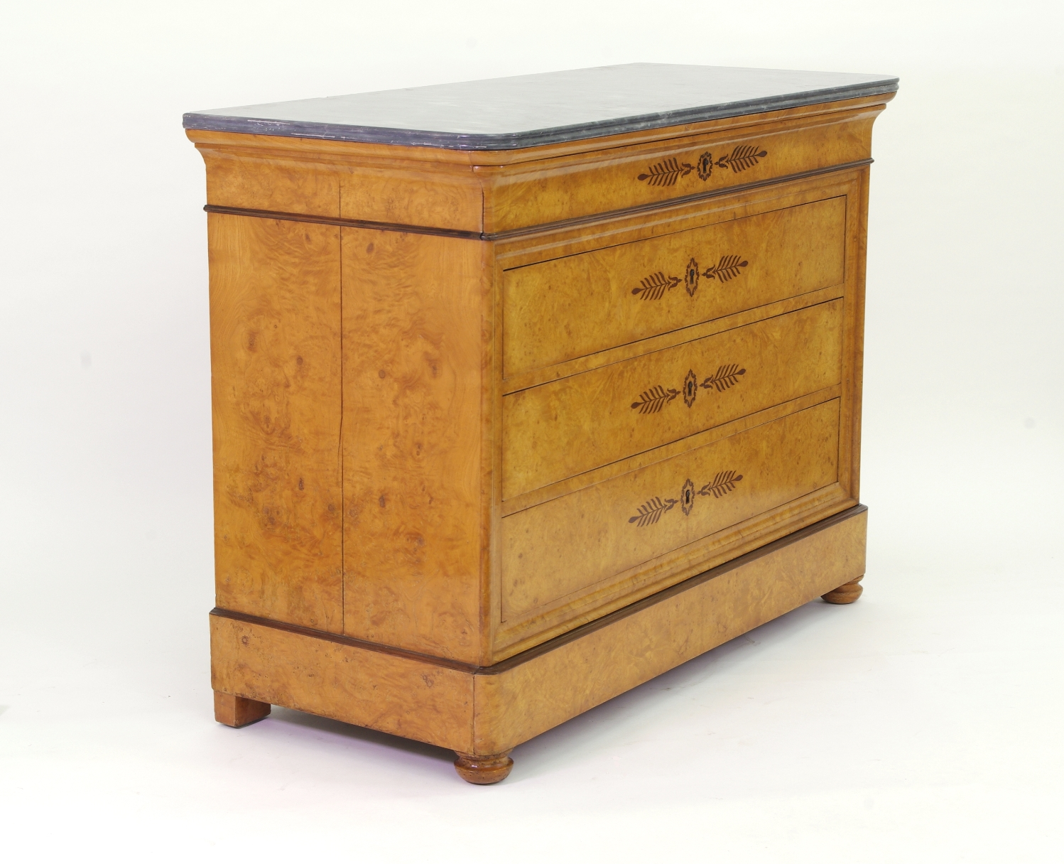 View 4: French Restauration Burr Ash Chest of Drawers, c. 1825