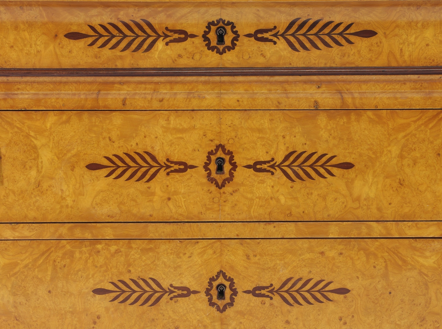 View 7: French Restauration Burr Ash Chest of Drawers, c. 1825