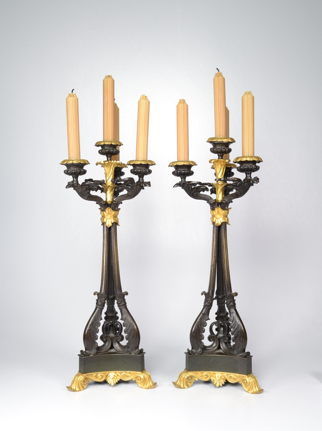 View 3: Pair of Louis-Philippe Bronze and Ormolu Candelabra, c. 1840