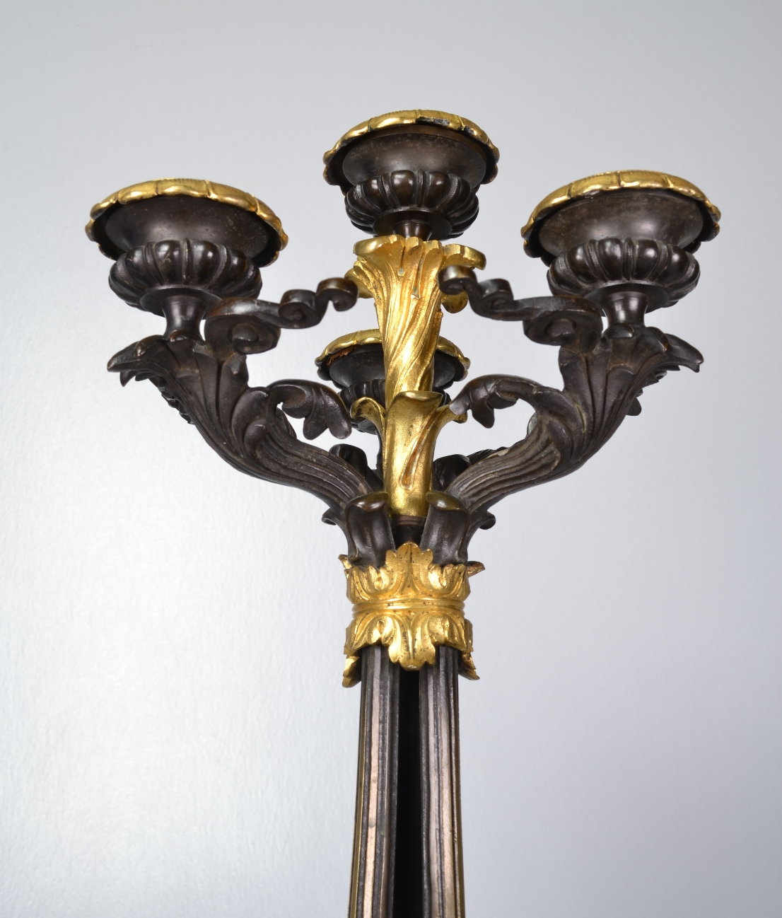 View 9: Pair of Louis-Philippe Bronze and Ormolu Candelabra, c. 1840