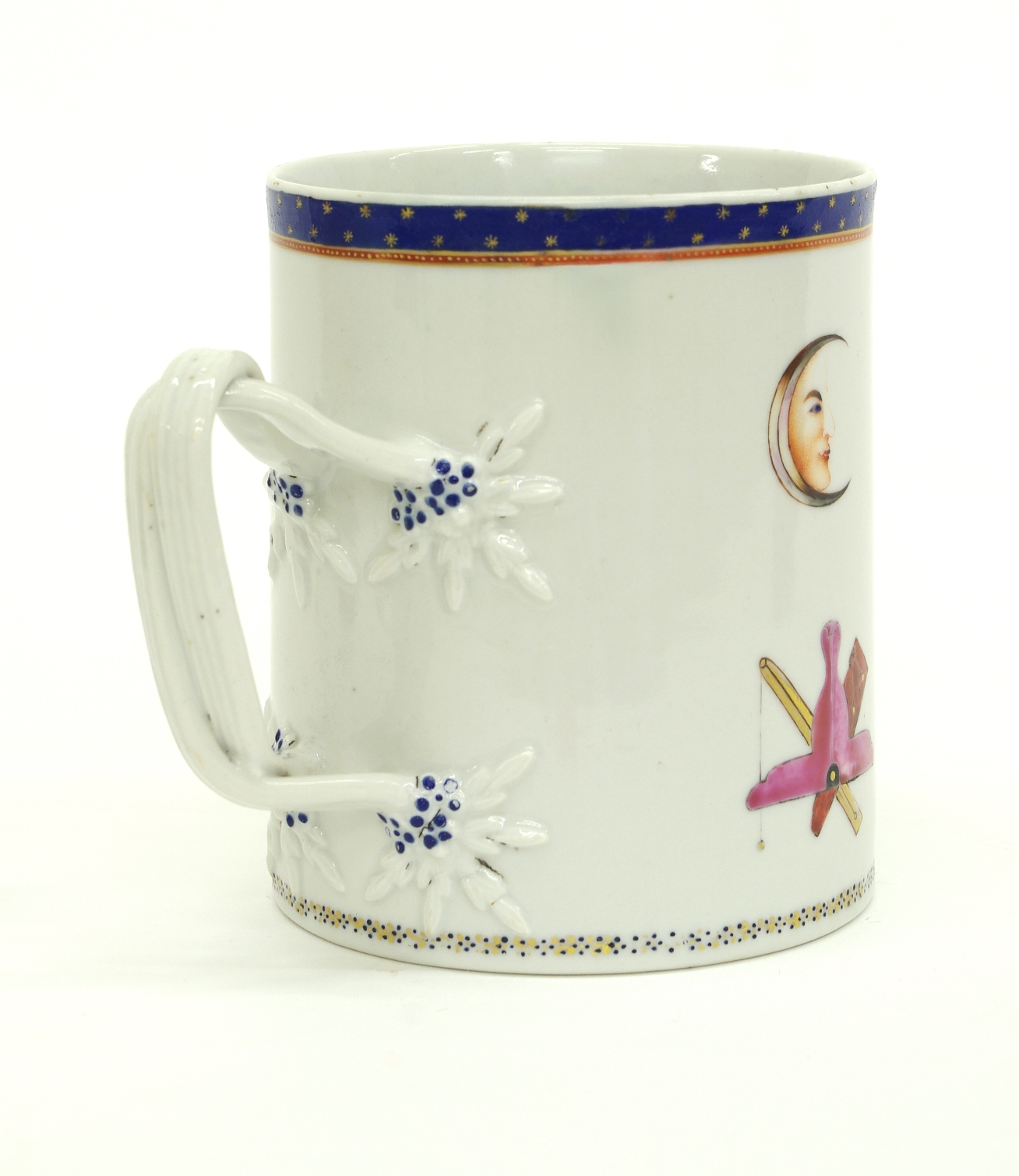 View 4: Chinese Export Porcelain Masonic Mug, c. 1795
