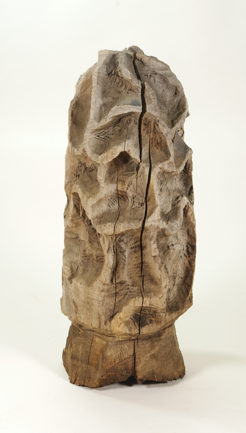 View 4: Folk Art Carved Morel Mushroom Sculpture, Mid 20th c.