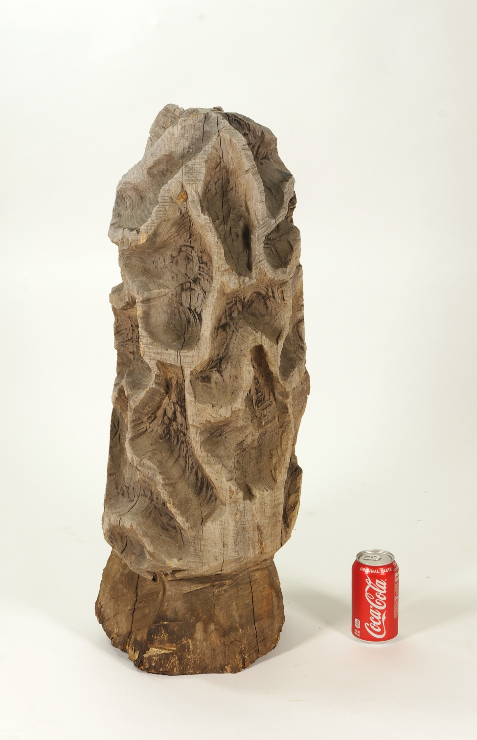 View 7: Folk Art Carved Morel Mushroom Sculpture, Mid 20th c.