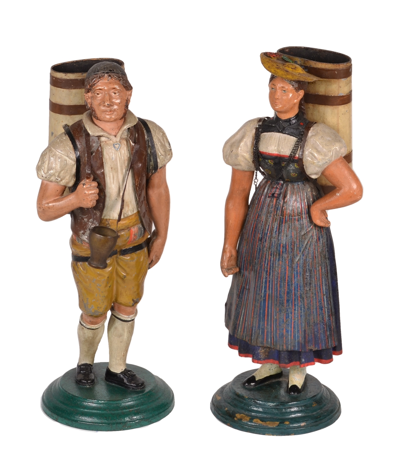View 1: Pair of Tole Figures, c. 1820-40