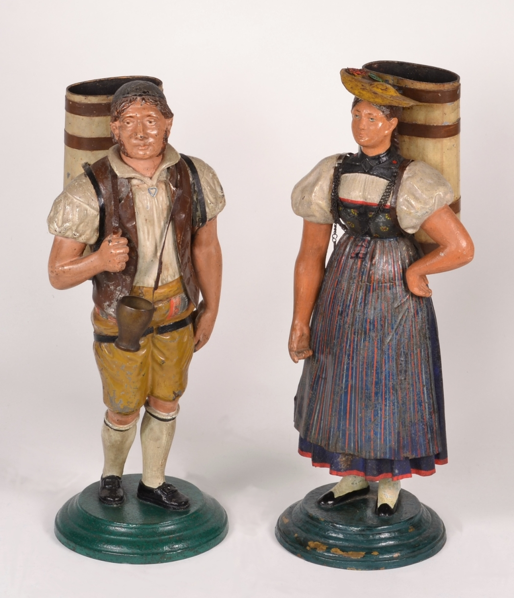 View 11: Pair of Tole Figures, c. 1820-40