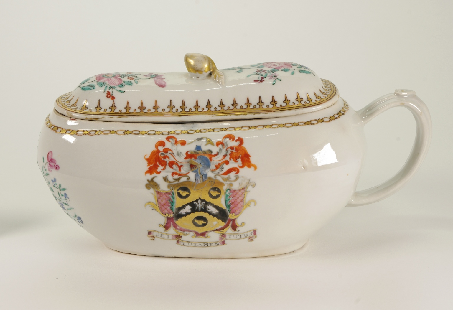 View 8: Chinese Export Armorial Bourdaloue, c. 1750