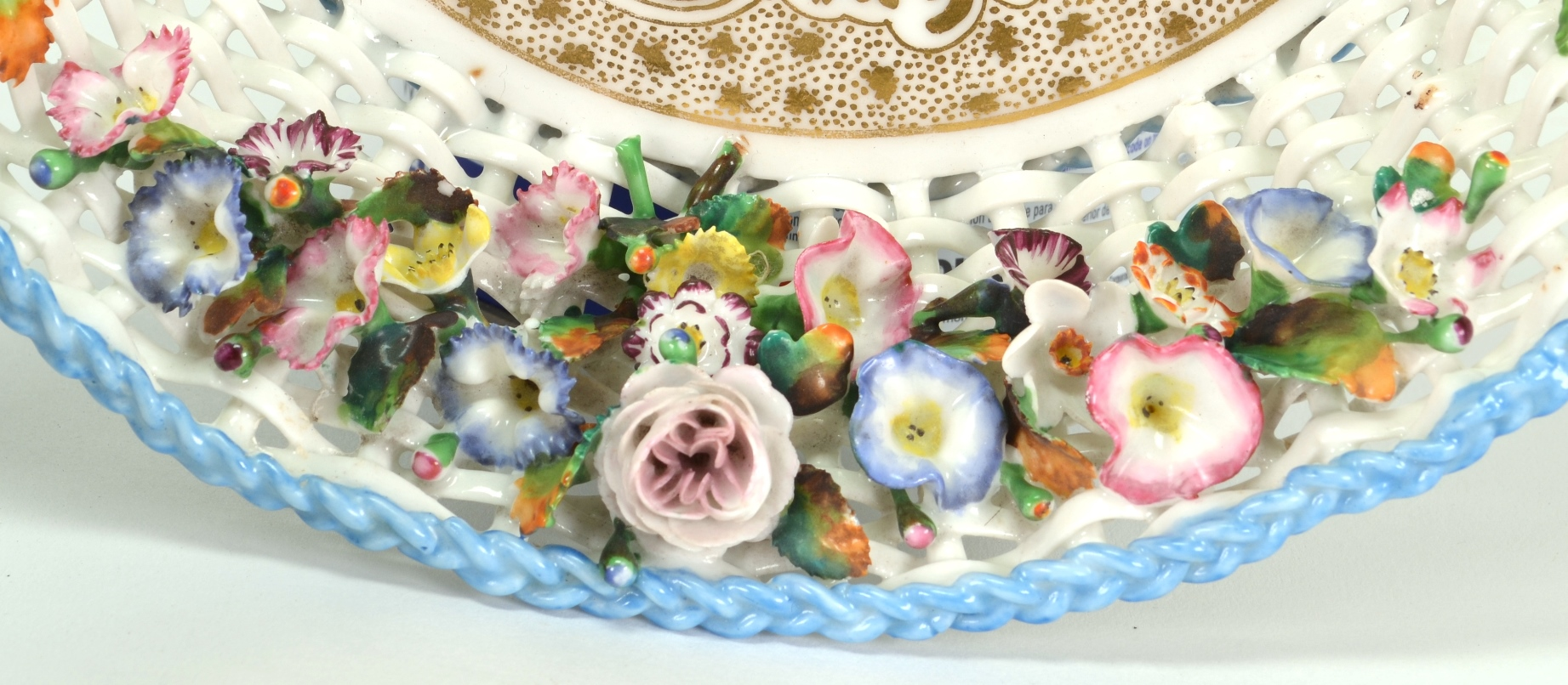 View 3: Old Paris Porcelain Basket by Jacob Petit, c. 1840