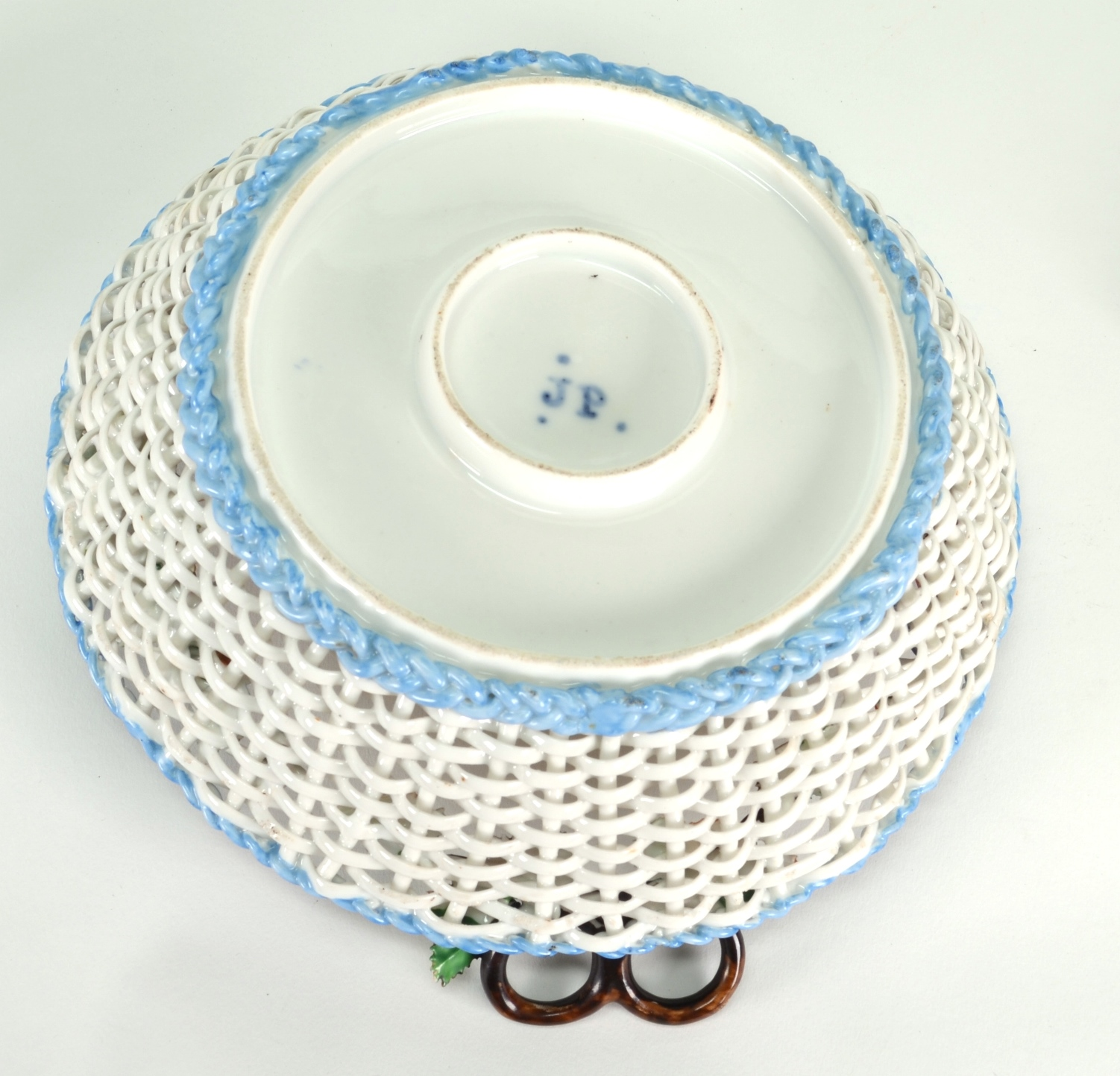 View 8: Old Paris Porcelain Basket by Jacob Petit, c. 1840