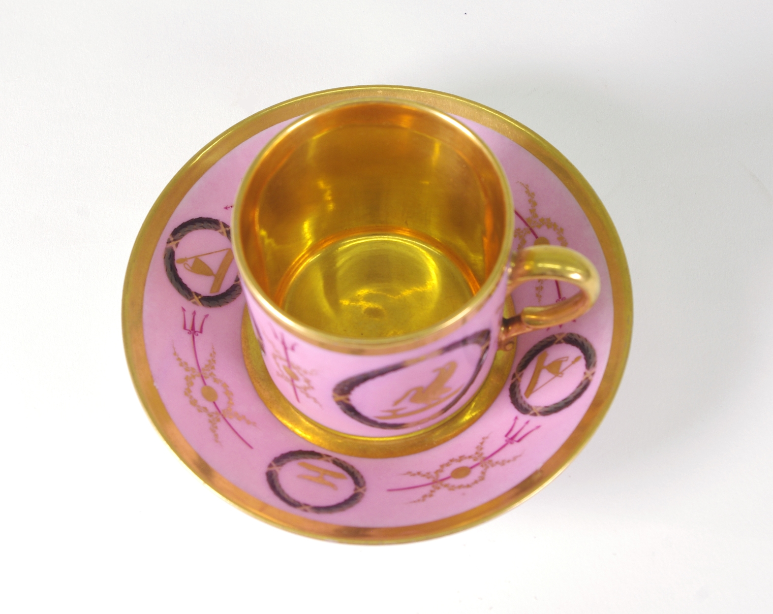 Old Paris Coffee Can and Saucer, c. 1810