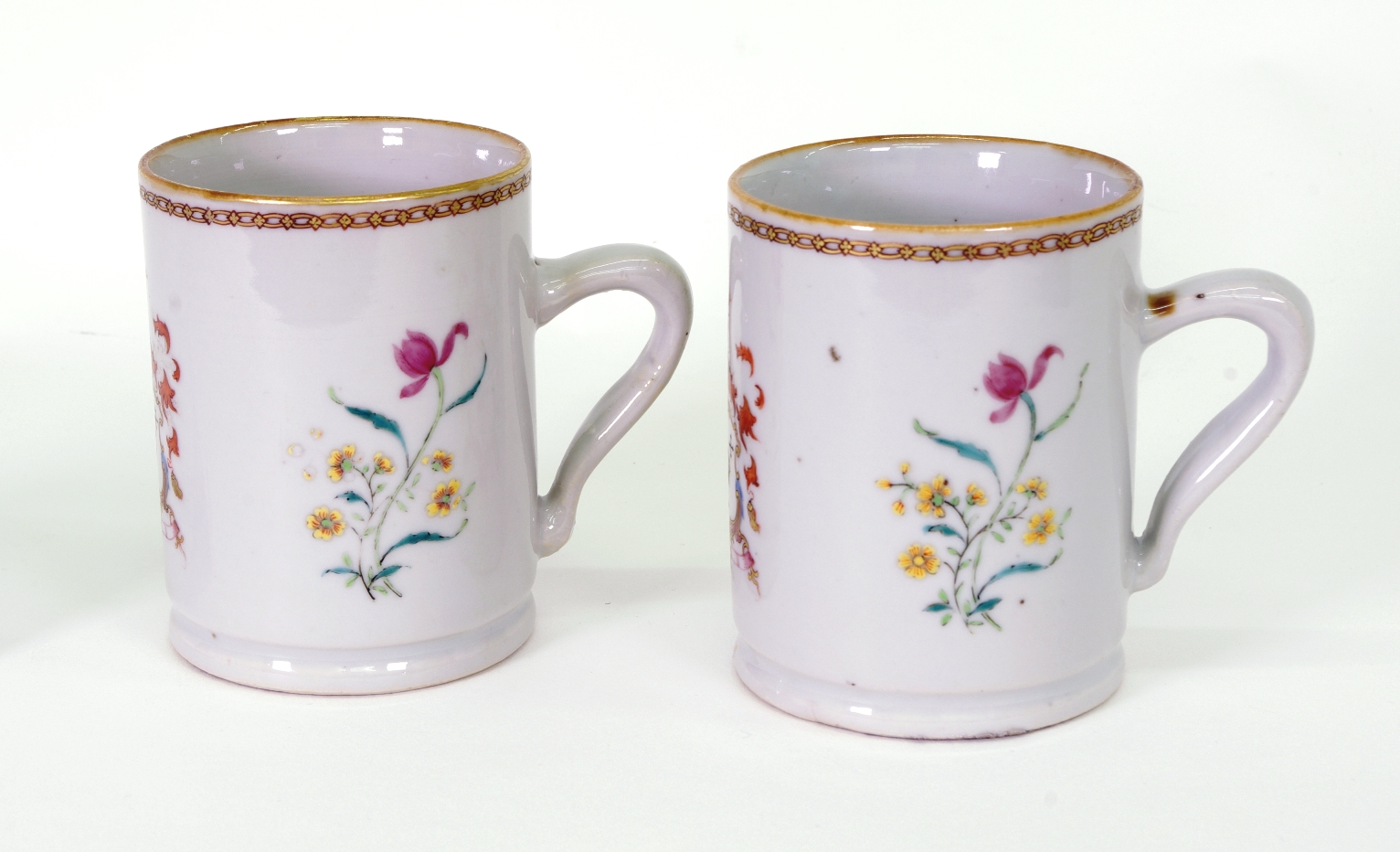 View 2: Pair of Chinese Export Armorial Small Mugs, c. 1750