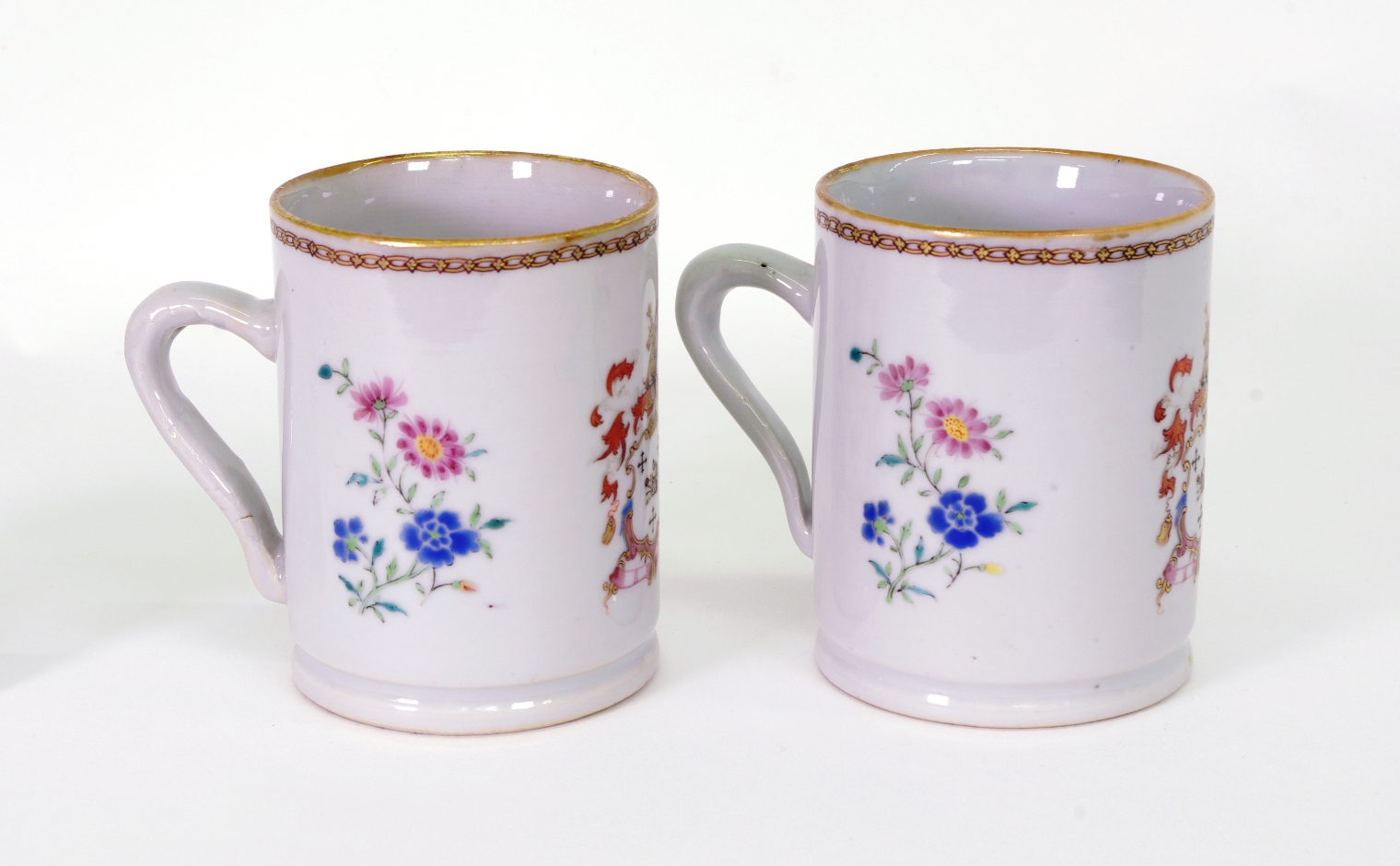 View 3: Pair of Chinese Export Armorial Small Mugs, c. 1750