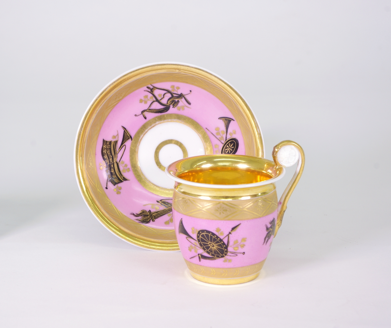 View 8: Popov Cup and Saucer, c. 1820