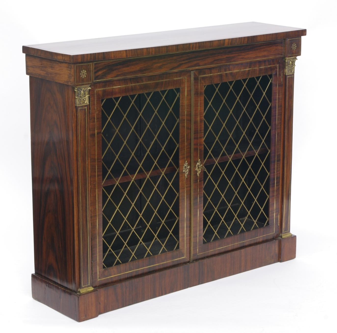 View 2: Regency Rosewood Bookcase Cabinet, c. 1820