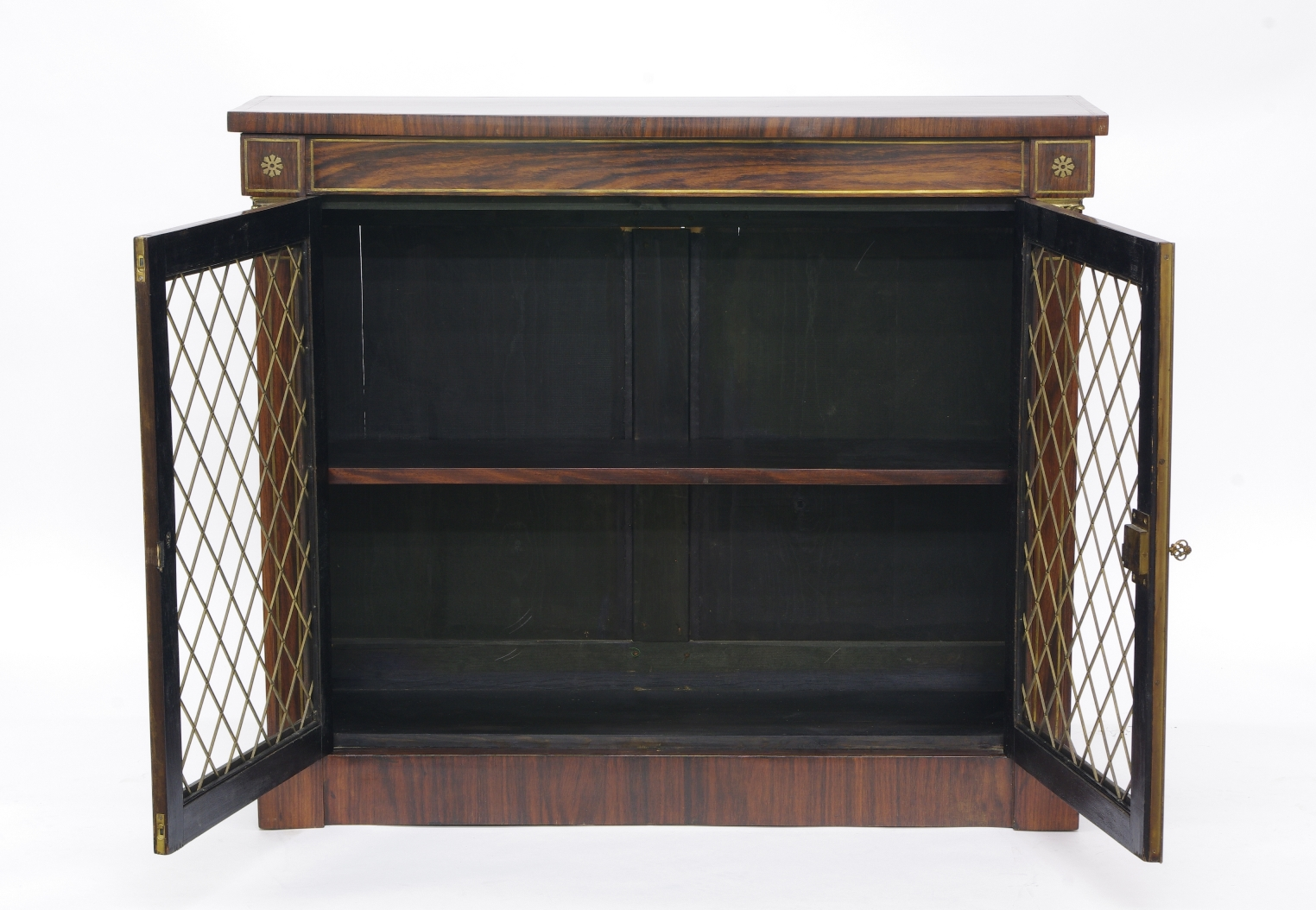 View 5: Regency Rosewood Bookcase Cabinet, c. 1820