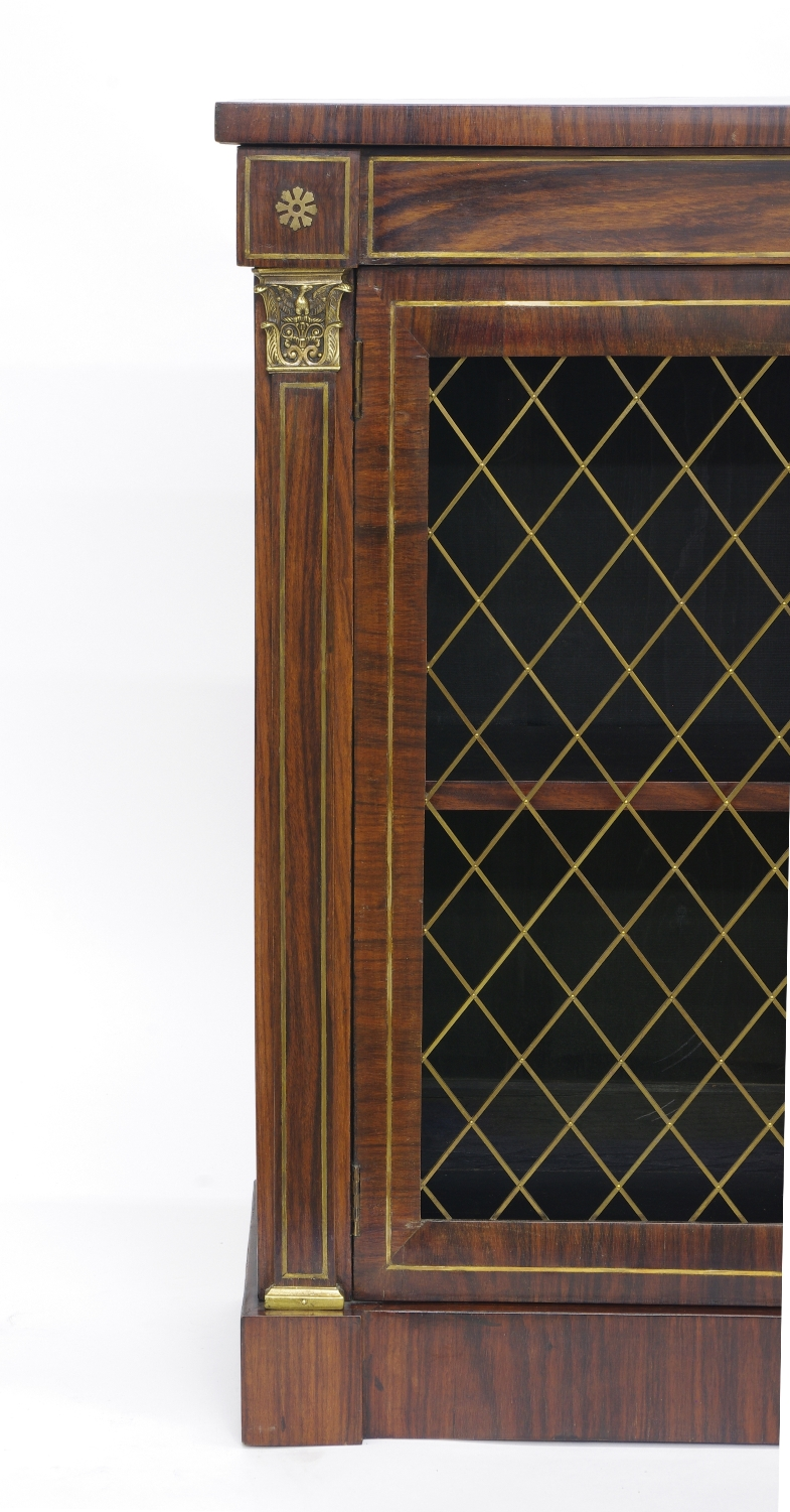 Regency Rosewood Bookcase Cabinet, c. 1820