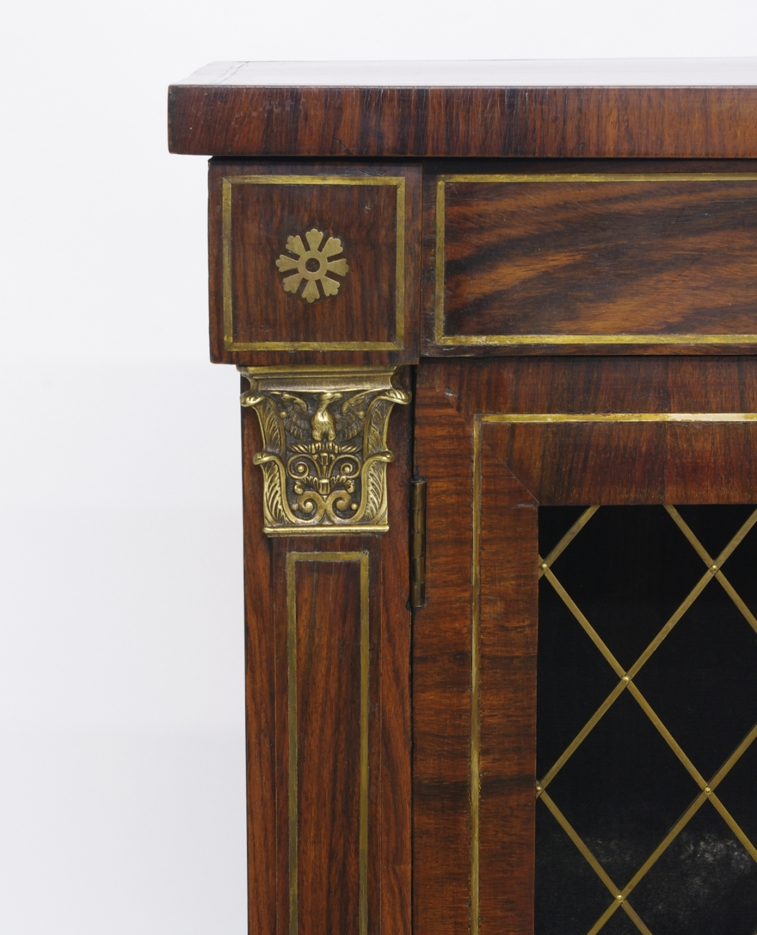 View 7: Regency Rosewood Bookcase Cabinet, c. 1820