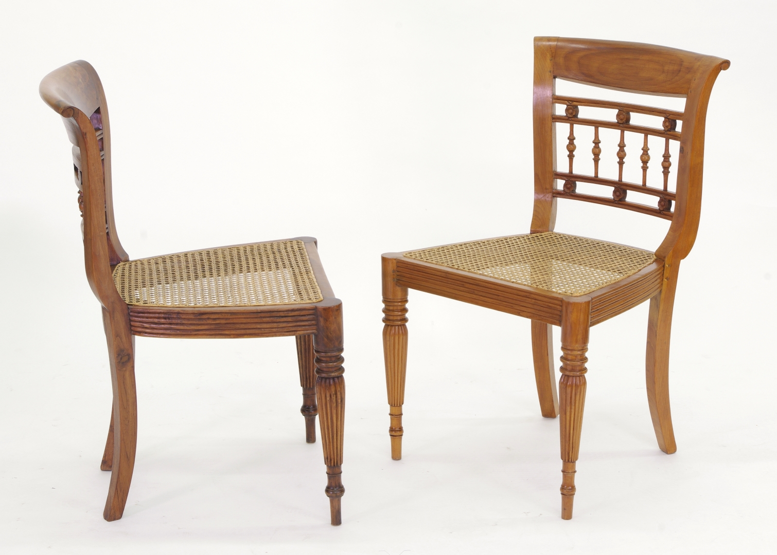 View 4: Set of Six British Colonial Dining Chairs, c. 1830