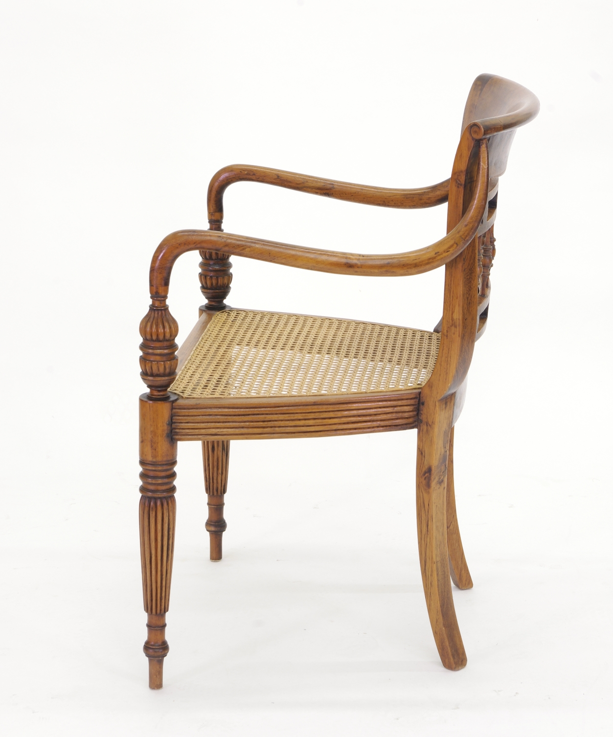 View 7: Set of Six British Colonial Dining Chairs, c. 1830