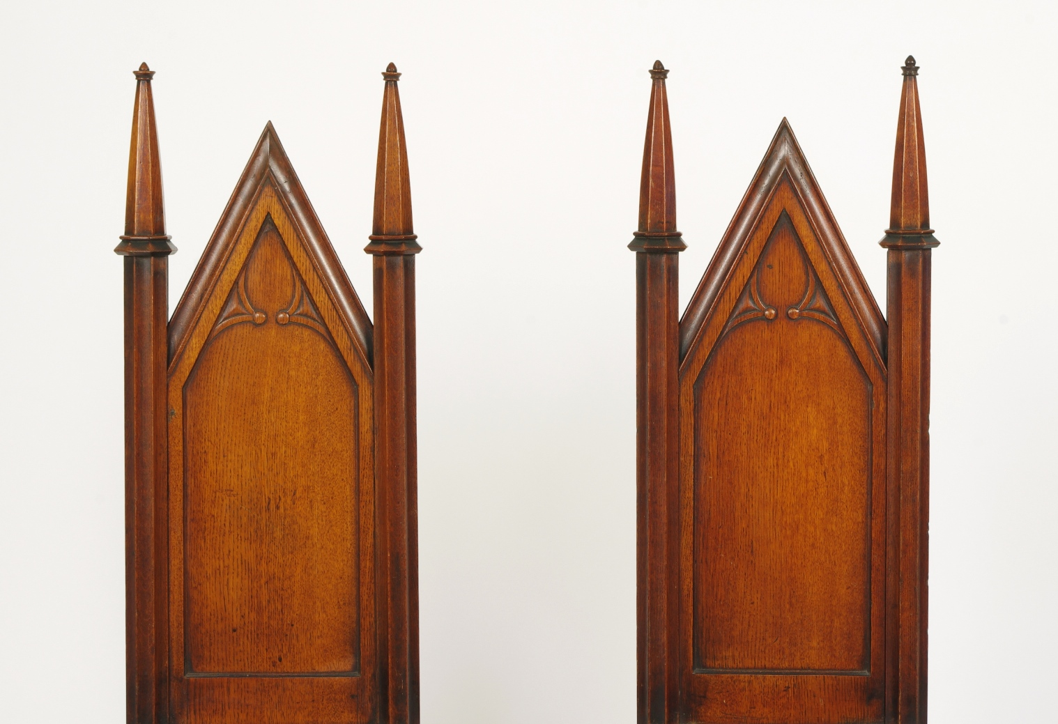 View 5: Pair of George III Oak Gothic Hall Chairs, c. 1800