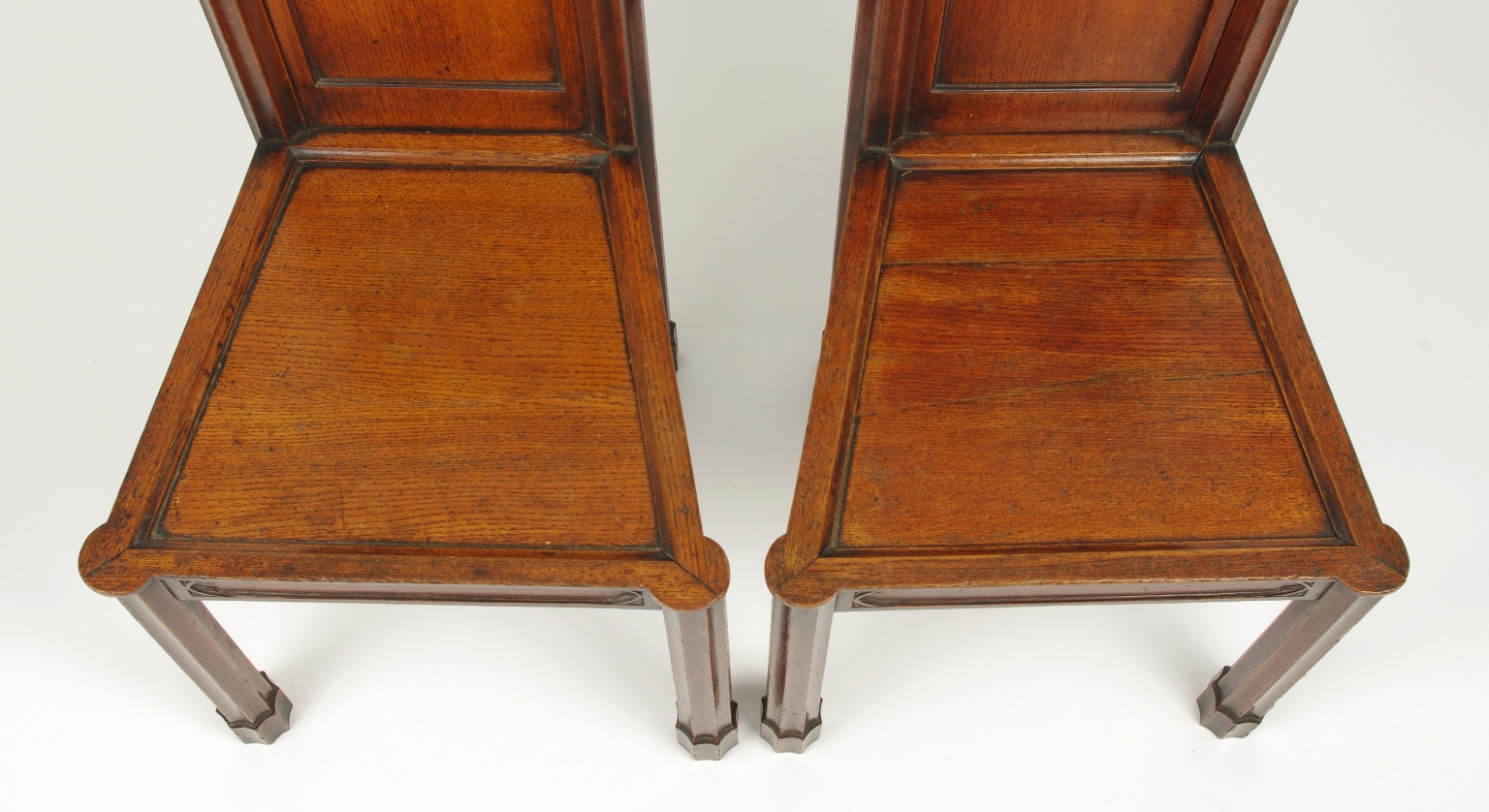 View 6: Pair of George III Oak Gothic Hall Chairs, c. 1800
