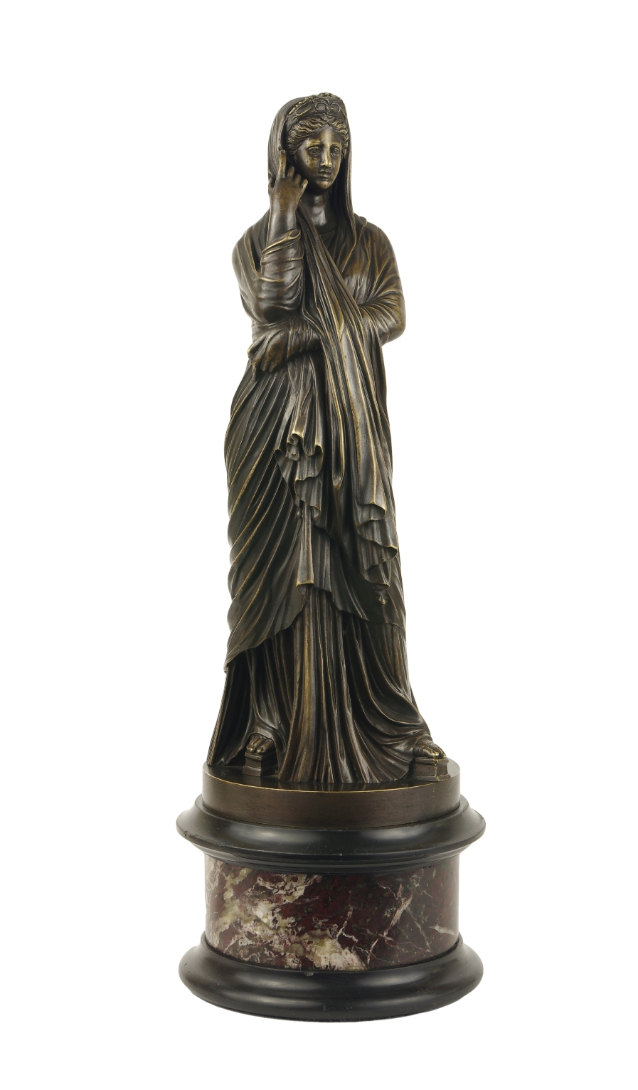 Grand Tour Bronze Figure of Pudicity, c. 1890