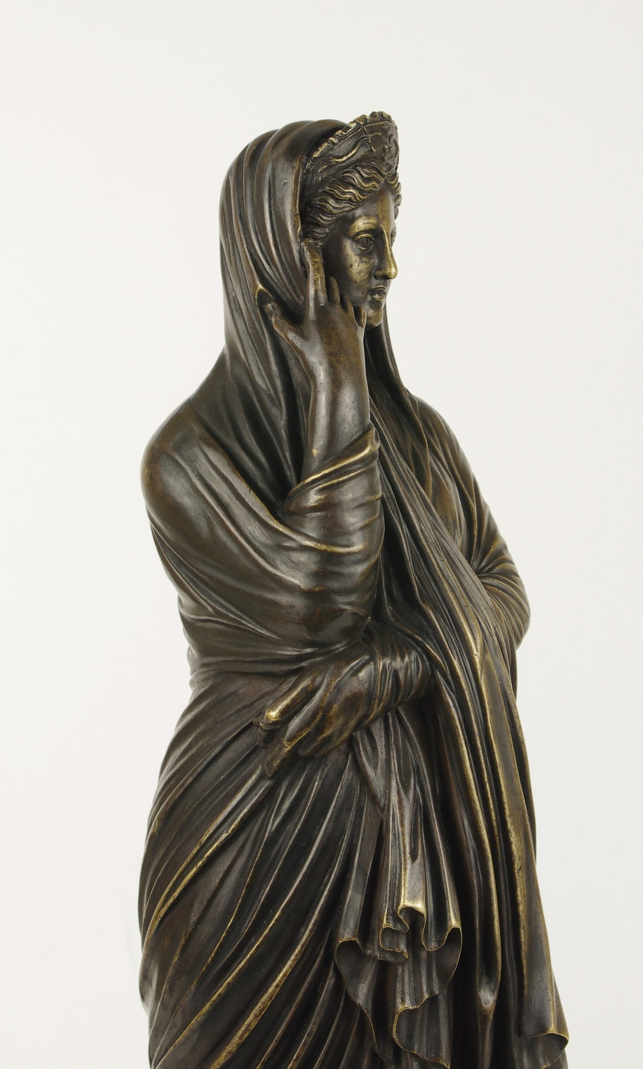 View 3: Grand Tour Bronze Figure of Pudicity, c. 1890