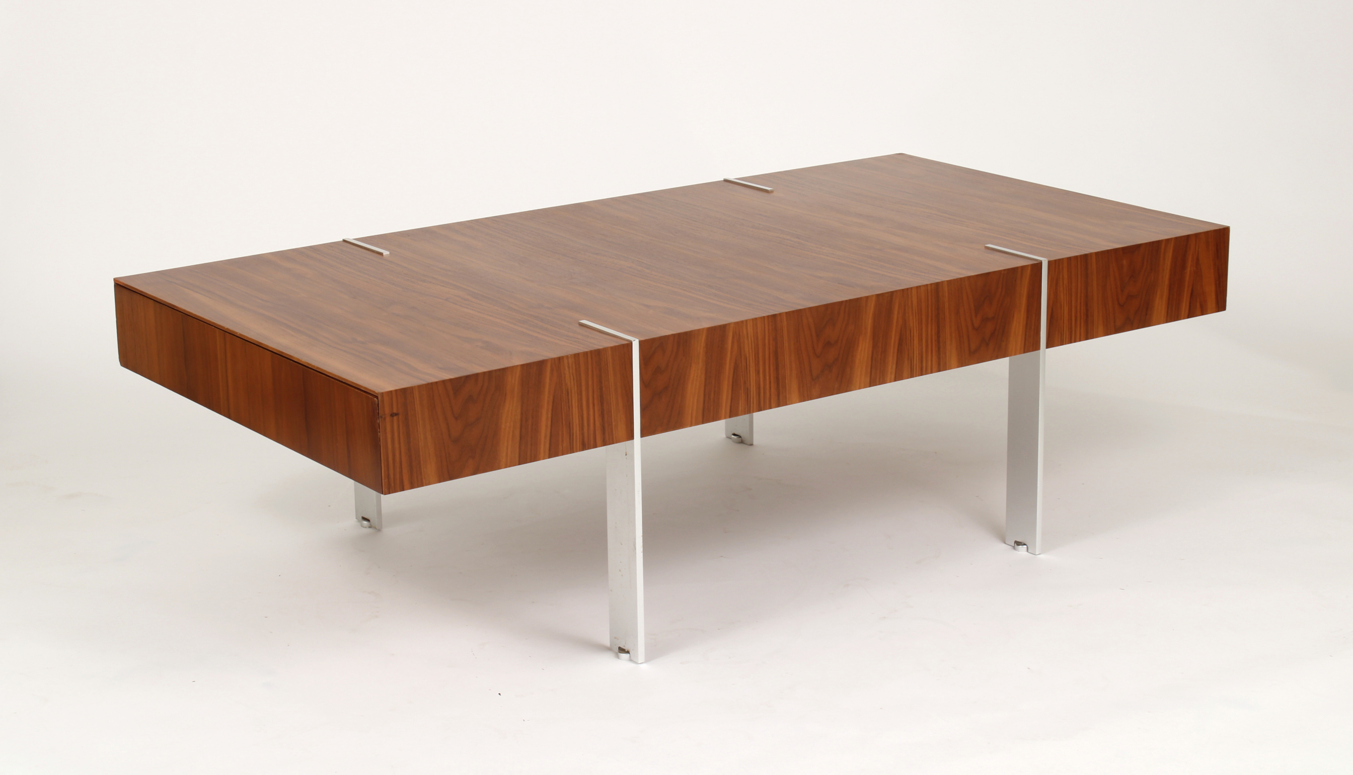 Modernist Walnut Coffee Table, 1980s
