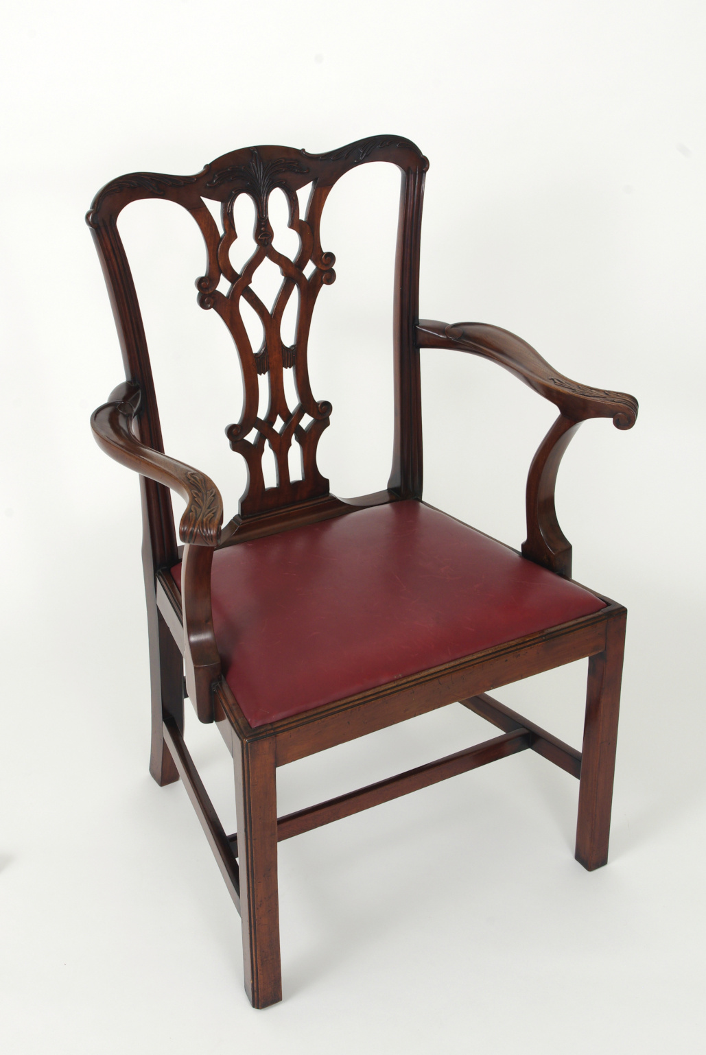 View 5: Set of Eight Chippendale Style Mahogany Dining Chairs (6+2), early 19th c.