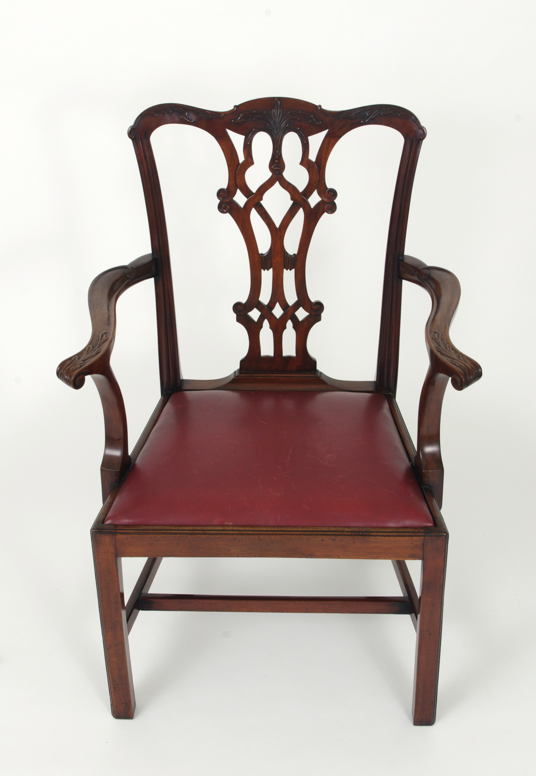 View 6: Set of Eight Chippendale Style Mahogany Dining Chairs (6+2), early 19th c.