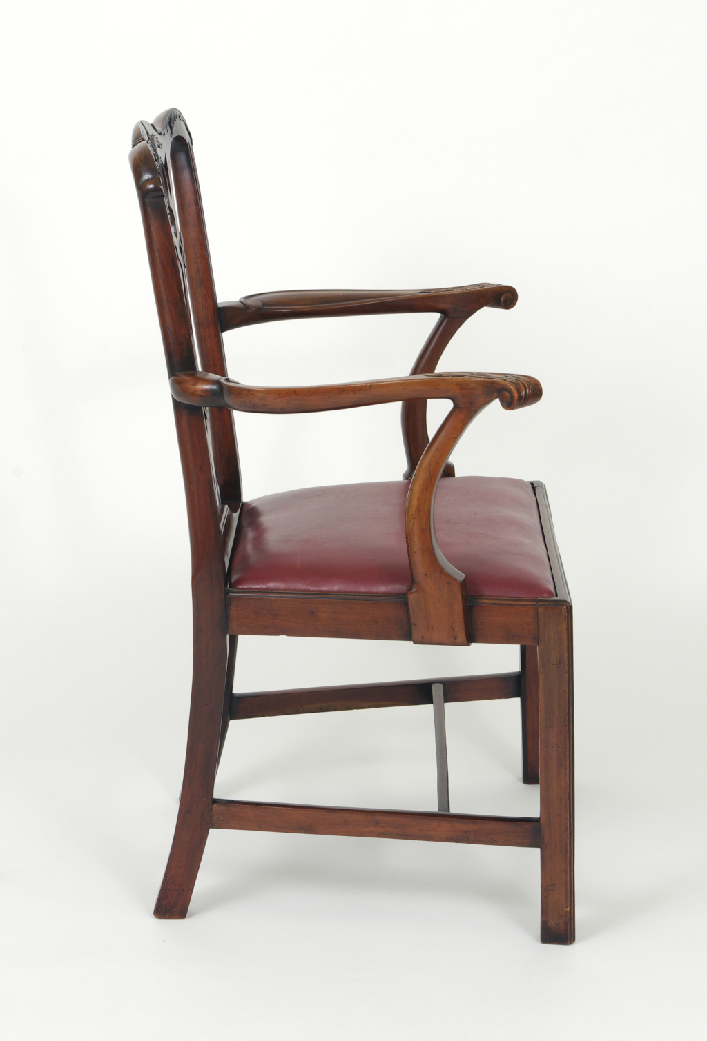 View 7: Set of Eight Chippendale Style Mahogany Dining Chairs (6+2), early 19th c.