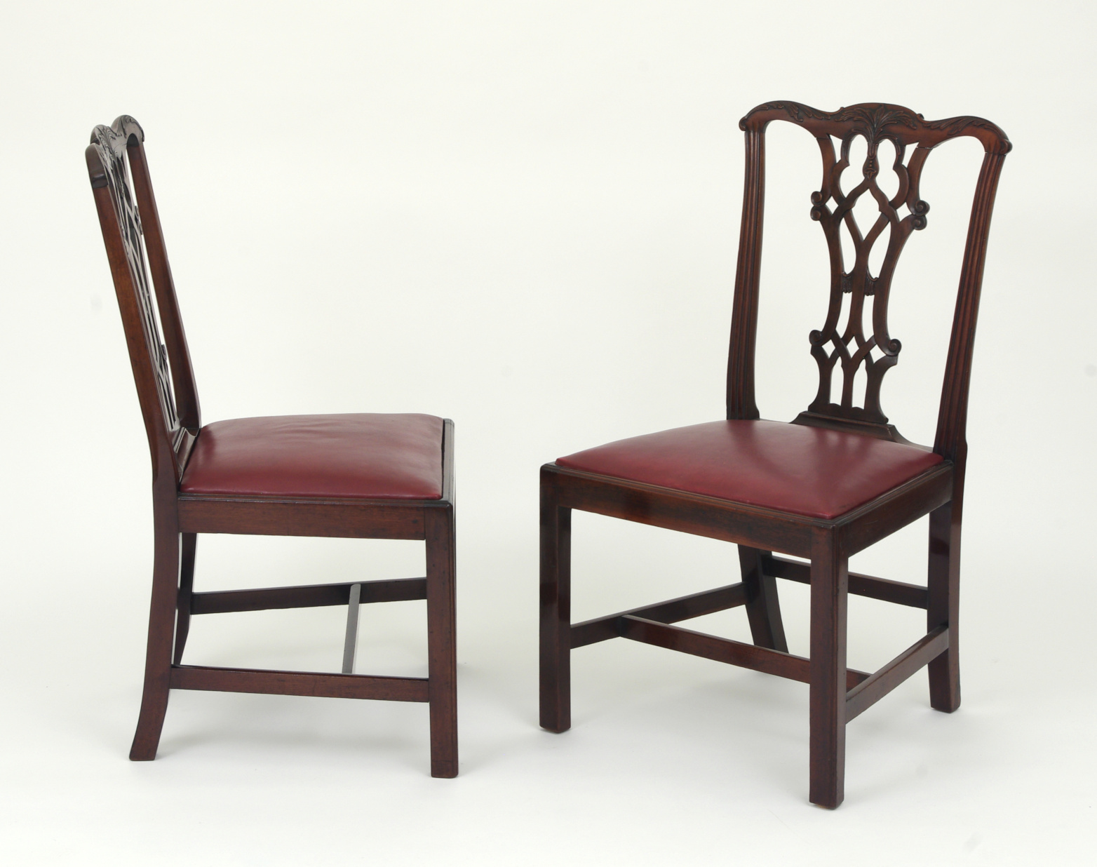 View 9: Set of Eight Chippendale Style Mahogany Dining Chairs (6+2), early 19th c.