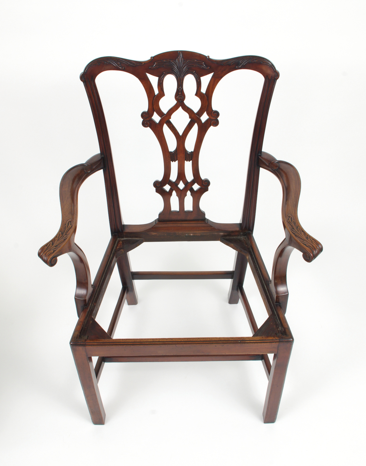 View 10: Set of Eight Chippendale Style Mahogany Dining Chairs (6+2), early 19th c.