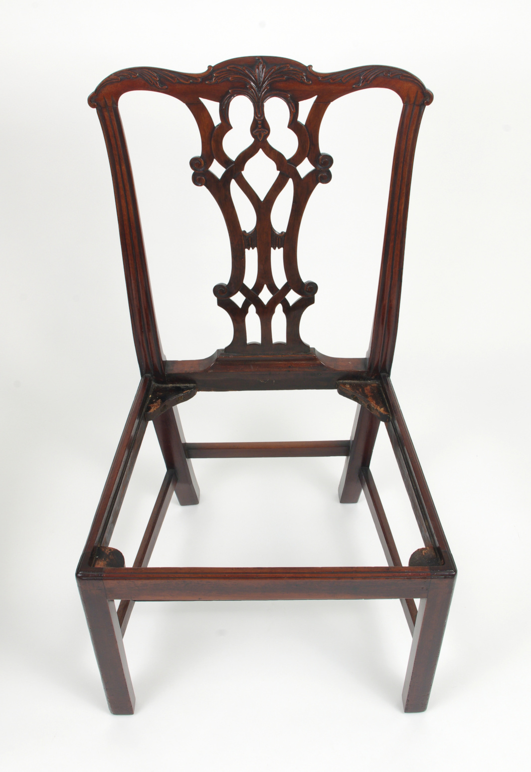 View 11: Set of Eight Chippendale Style Mahogany Dining Chairs (6+2), early 19th c.