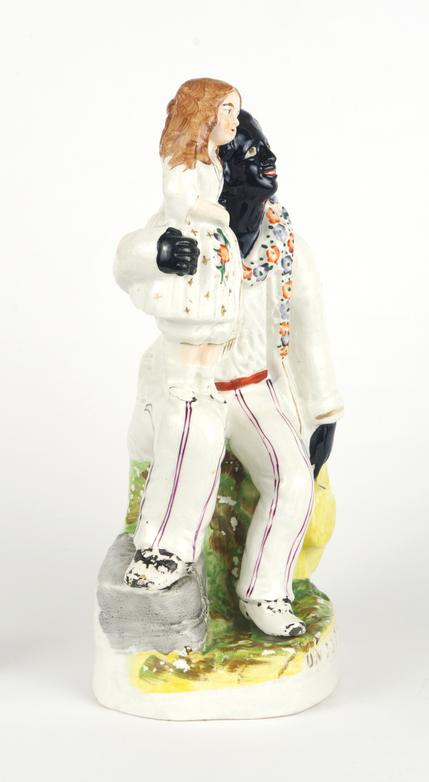 "View 2: Staffordshire Figure, ""Uncle Tom and Eva"", c. 1852"